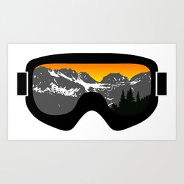 Sunset Goggles 2 | Goggle Designs | DopeyArt Art Print