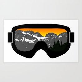 Sunset Goggles 2 | Goggle Designs | DopeyArt Art Print