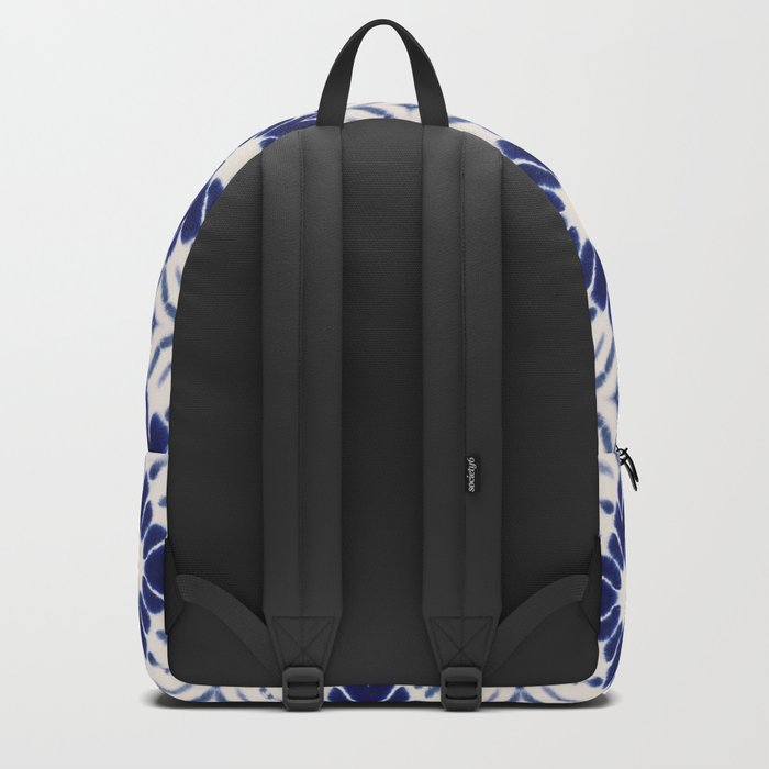 Watercolor Shibori Blue Backpack