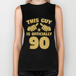 This Guy Is Officially 90 Years Old 90th Birthday Biker Tank