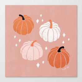 Peachy Pumpkin Canvas Print