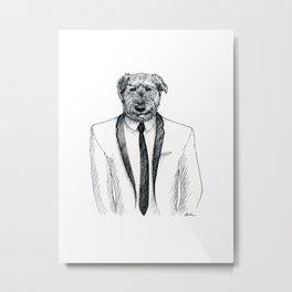 Dapper Doggo Metal Print