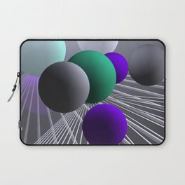 converging lines and balls -1- Laptop Sleeve