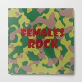Females Rock Metal Print
