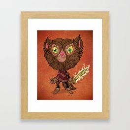 Adventure Cat Framed Art Print
