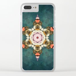 butterfly Medallion Clear iPhone Case