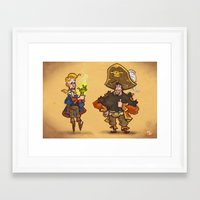 monkey island Framed Art Prints featuring #85 - Tales of Monkey Island by Jón Kristján Kristinsson