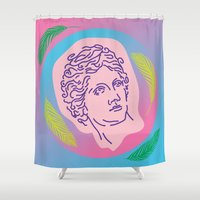 apollo Shower Curtains featuring Apollo Please #2 by Jordan Hauser