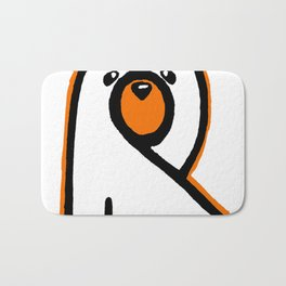 Ghost Bear IV Bath Mat