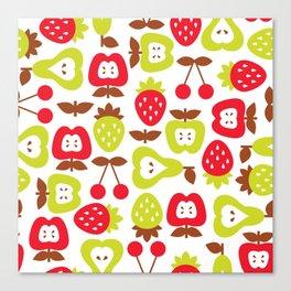 Shabby Chic Fruits Pattern Canvas Print
