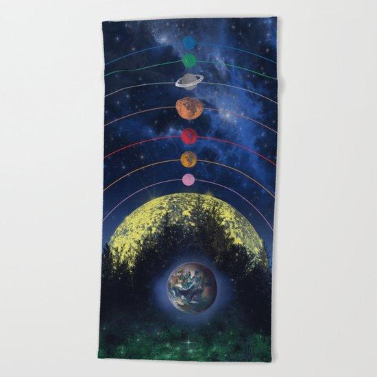 solar system Beach Towel