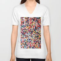sprinkles V-neck T-shirts featuring SPRINKLES by ThingsLikeStuff