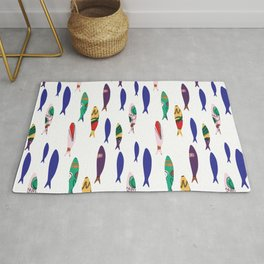 Summer Cookout Sardines #Homedecor Rug