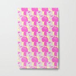 Peony Garden Pink Fields Metal Print