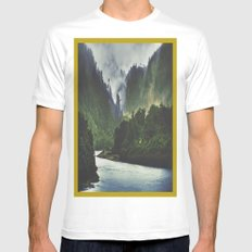 The Spirit Of The River Mens Fitted Tee White MEDIUM