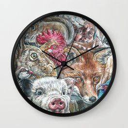 Animal World Wall Clock