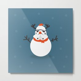 Day 16/25 Advent - Snow Trooper Metal Print