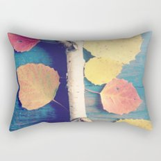 Autumn Birch Leaves and Twigs Rectangular Pillow