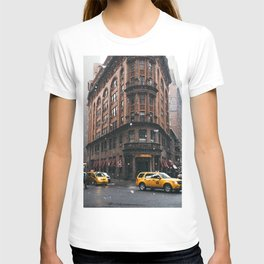 Snow showers in Financial District T-shirt