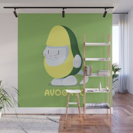 Delicious Avogato - Perfect For Cat & Avocado Lovers Wall Mural