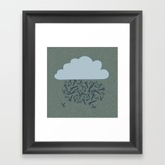 IT'S RAINING BLADES Framed Art Print