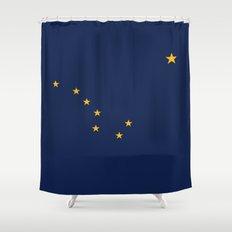 Alaska State Flag - Authentic version Shower Curtain