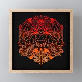 dragon fire Framed Mini Art Print