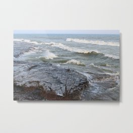 Cave Point Metal Print