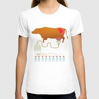 cow T-shirts featuring Cow by Mira Maijala