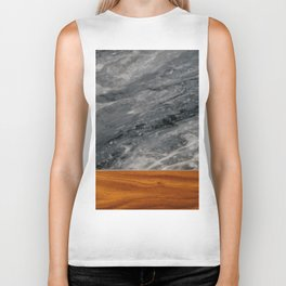 Marble and Wood 3 Biker Tank