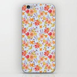 Flower Watercolor Pattern iPhone Skin