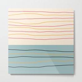 Bakeneko - Colorful Abstract Art Metal Print
