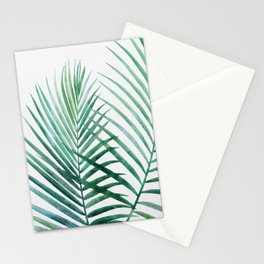 Emerald Palm Fronds Watercolor Stationery Cards