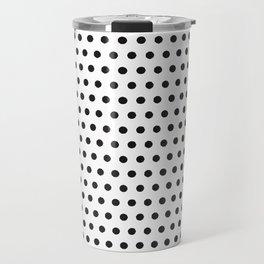 Black white geometrical simple polka dots pattern Travel Mug
