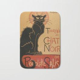 Le Chat Noir The Black Cat Poster by Théophile Steinlen Bath Mat