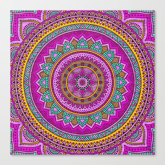 Hippie mandala 94 Canvas Print