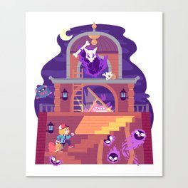 Tiny Worlds - Lavender Town Tower Canvas Print