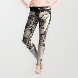 The old towers Leggings