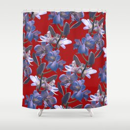 Orchids in Wine Shower Curtain