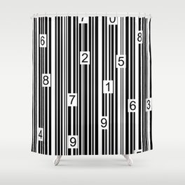 Barcode Shower Curtain