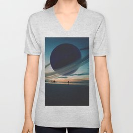 Life on Earth-like planet Unisex V-Neck