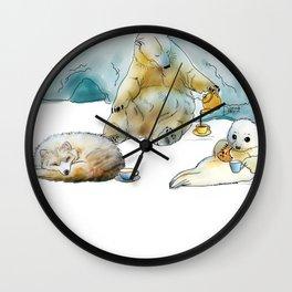 Polar Tea Party Wall Clock