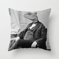 DR. LIZARD Throw Pillow