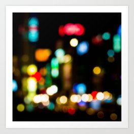 Shibuya Bokeh Lights Art Print