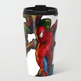 Spider man fighting gren goblin Travel Mug