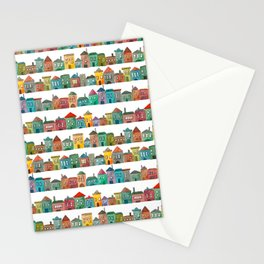 Watercolor Town Stationery Cards
