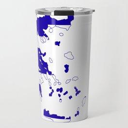 Greece Map Flag Travel Mug