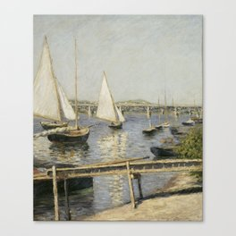 Gustave Caillebotte - Sailing Boats at Argenteuil Canvas Print