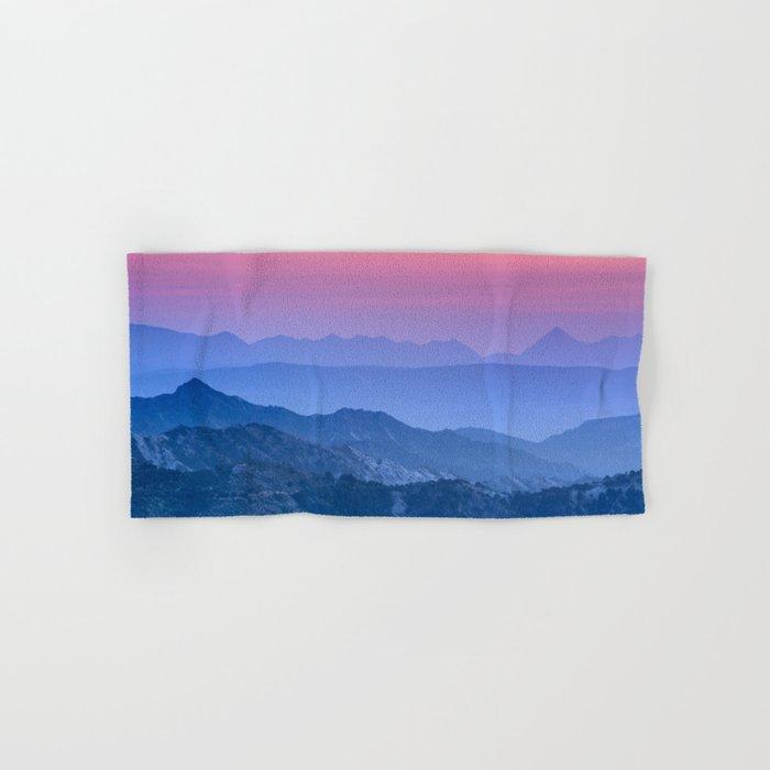 """Mountain dreams"". At sunset. Hand & Bath Towel"