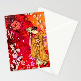 日没 (sunset) Stationery Cards